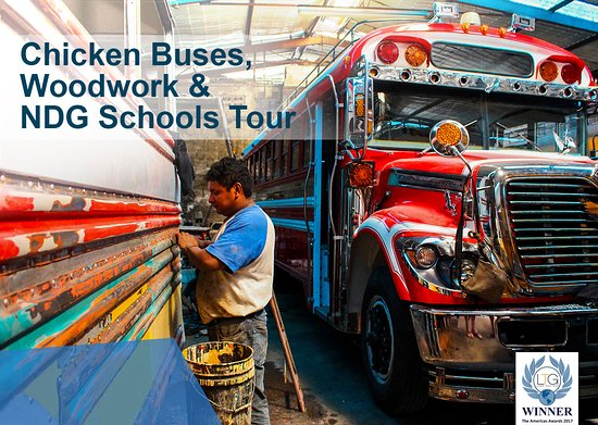 Antigua, Guatemala: Half-day chicken bus, woodwork (coffin maker) and tour of NDG education projects with social imp