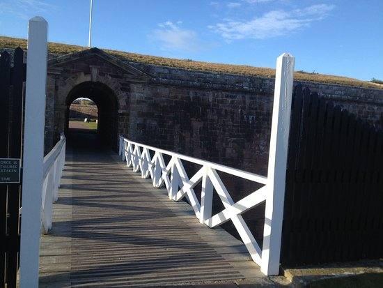 Ardersier, UK: small bridge before larger bridge