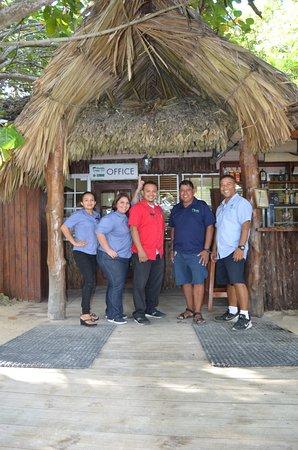 Xanadu Island Resort: Jessica, Melanie, Alberto, Orlando, and Jamil, missing from photo is Ingrid and Frantz