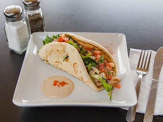 Hillside, IL: Chicken on a Pita. Made with chicken breast, lettuce, tomatoes and our very own chipotle ranch/
