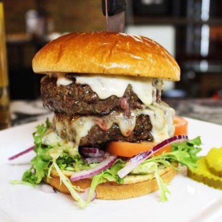 "Middleburg Heights, OH: Our ""3 Brothers"" burger (lafrieda.com pictured) is a challenge!"
