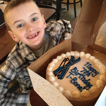 Solitude, UT: We arranged for a cake to celebrate our little guy's 7th bday. Worked out well!