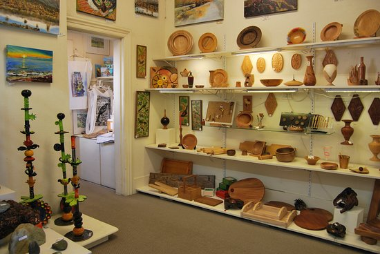 Hawke's Bay Region, New Zealand: Some of our amazing wood workers work & in the foreground are one of our potters new 'kebabs'.