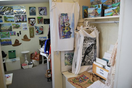 Hawke's Bay Region, New Zealand: A sneak peek into the back room, prints, felting, cards, tea towels, aprons & knitted items & mo