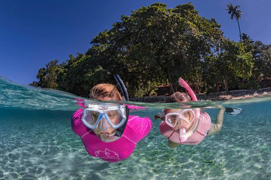 Bangka Island, Indonezja: Snorkeling our beautiful house reef at Murex Bangka