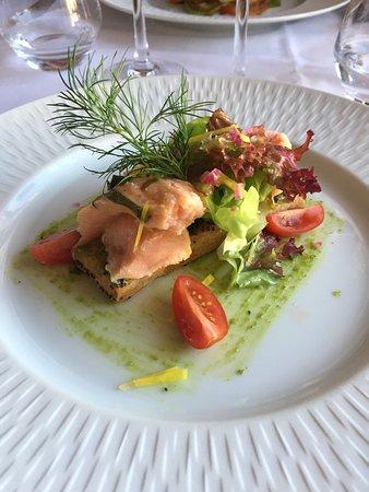 Londinières, France : sablé parmesan et saumon mariné