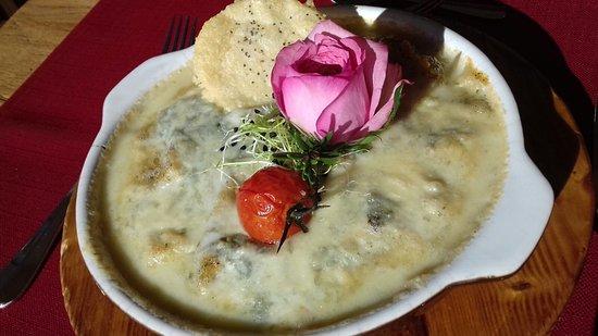 Cardada, Szwajcaria: Polenta mit Gorgonzola