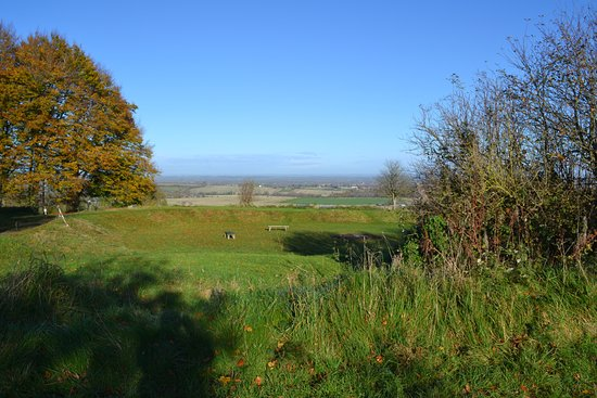 Wantage, UK: View over Oxfordshire from Rear of Centre