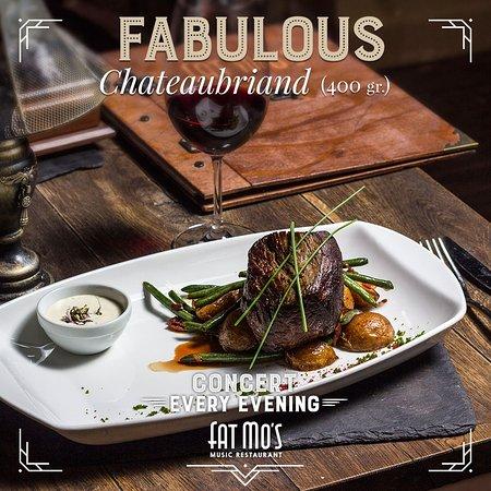 Fat Mo's Restaurant & Music Pub: Chateaubriand