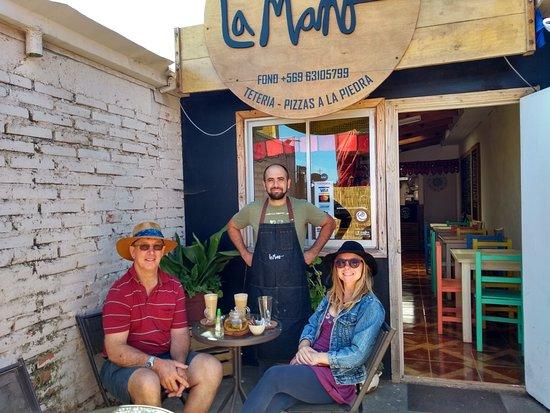 Buchupureo, Chile: Yo y mi papá disfrutando el café y te