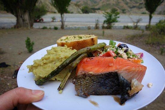 Kaikoura, Nueva Zelanda: 5 star dinner. Tasted just as good as it looks!