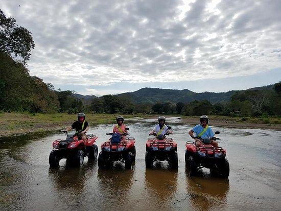 Garabito Municipality, Costa Rica: Four of us in the river!