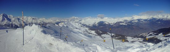 Pila, la vue sur le Mont Blanc