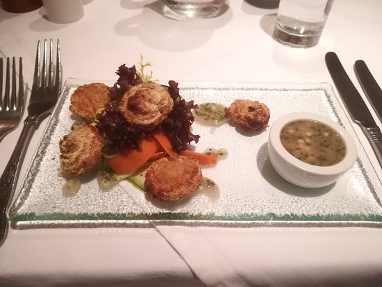 Port Appin, UK: Vegan starter with a coconut dip