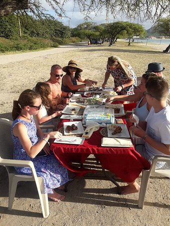 Flavours of the Grill: Sun set dinner prepared on the beach for 40th birthday celebration!!