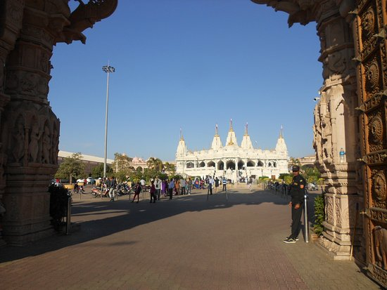 Shree Swaminarayan Temple Bhuj: Swaminarayan temple view at a distance