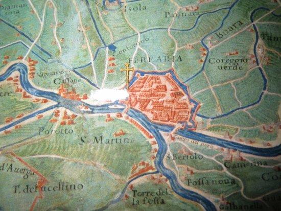 Musei Vaticani: planimetria antica di Ferraria e provincia