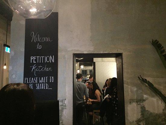 Petition: Bar opposite the restaurant