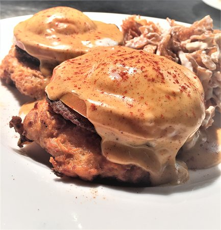 West Fargo, ND: Sweet Potato Eggs Bennedict servers every Sunday from 9-1.