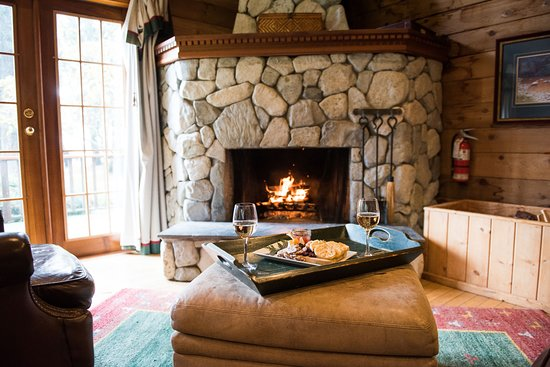 rustic luxury cottages with wood burning fireplaces picture of rh tripadvisor com