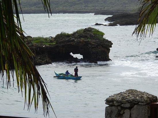 Boca de Yuma, Dominican Republic: Picture of fishermen from restaurant table