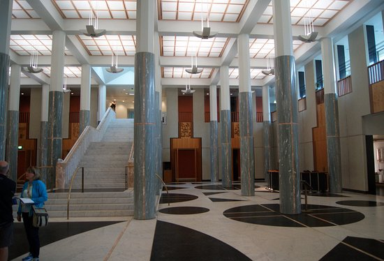 Parliament House Marble Foyer : Entrance hall of australian parliament house marble foyer