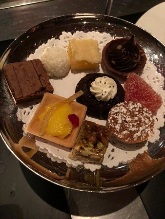 "Restaurant Gary Danko: Dessert treat tray. One of two ""free"" dishes served with each meal."
