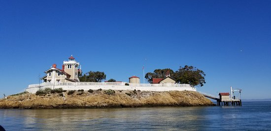 Point Richmond, CA: East Brother Light Station from the water