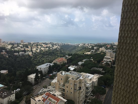 ‪‪Dan Panorama Haifa‬: View of Haifa from 12th floor with Mediterranean in the distance‬