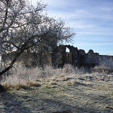 Kallmuenz, Alemania: Burgruine im Winter
