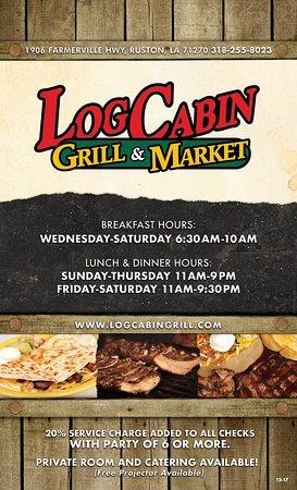 Log Cabin Grill Amp Market Ruston Restaurant Avis Num 233 Ro