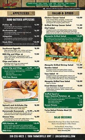 log cabin grill market ruston restaurantanmeldelser