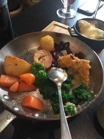 Kingham, UK: variety of vegetables.