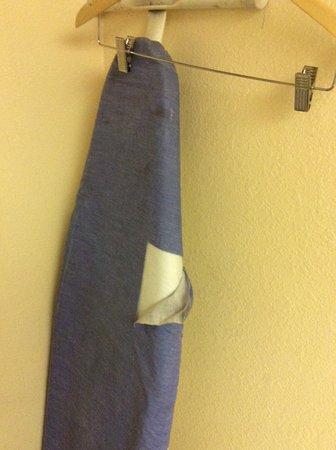 Days Inn Sierra Vista: Torn ironing board cover