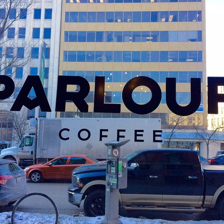 Begin your day in Winnipeg at Parlour Coffee! We did!