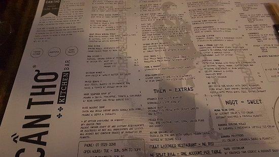 Can Tho Kitchen Gold Coast Menu