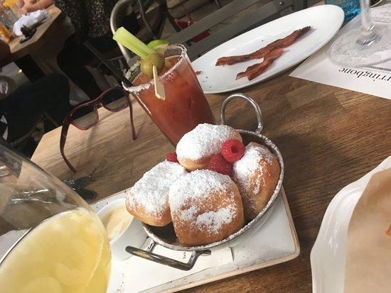 Herringbone La Jolla: Beignets and Bloody Marys