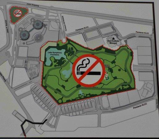 no smoking park Picture of KLCC Park Kuala Lumpur TripAdvisor