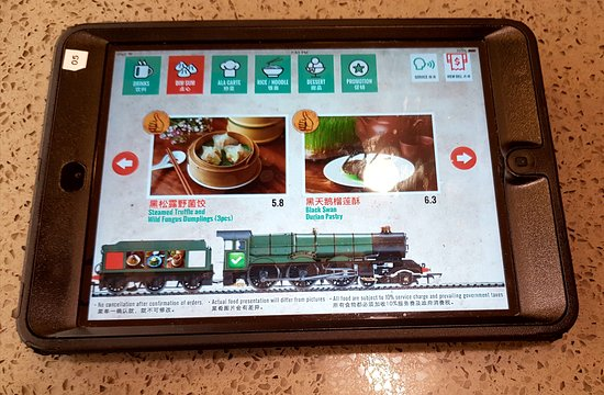 Tablet For Placing Orders Picture Of Tung Lok Teahouse
