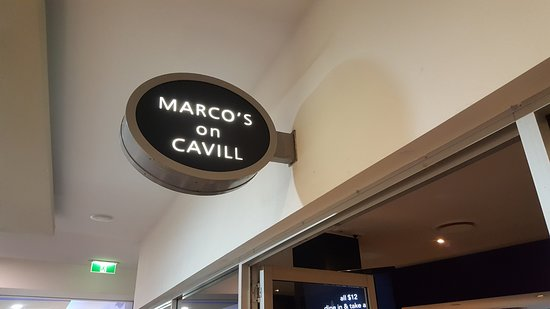 Marco's on Cavill: Marcos is at the end of a small mall off Cavill