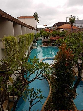 Kuta Lagoon Resort & Pool Villa: Well over 100m long