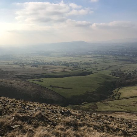 Barley, UK: More of Pendle on route back down to Downham
