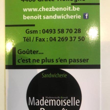 Grâce-Hollogne, Bélgica: Mademoiselle Benoît