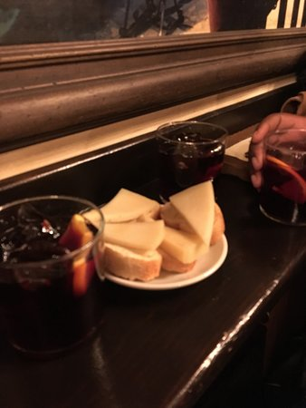 Adventurous Appetites Tapas Tour : Tapas on the tour! Free cheese and bread before the actual food comes.