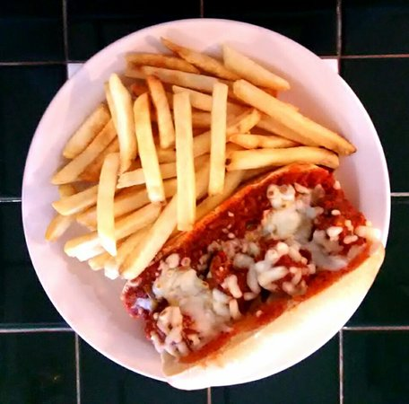 Big Sandy, TX : Meatball sub with fries