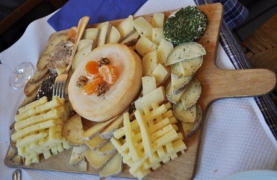 Ferme auberge du Ried : plateau de fromages