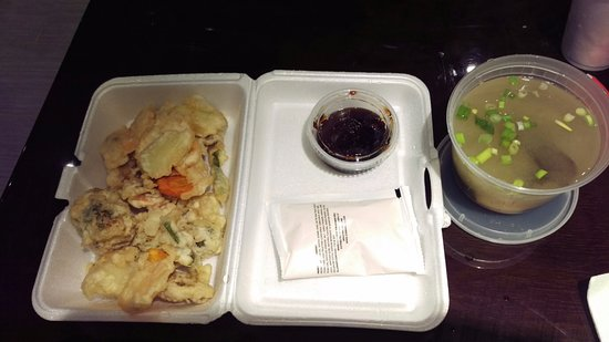 Perry, Gürcistan: Veggie Tempera $4.95 & Miso Soup