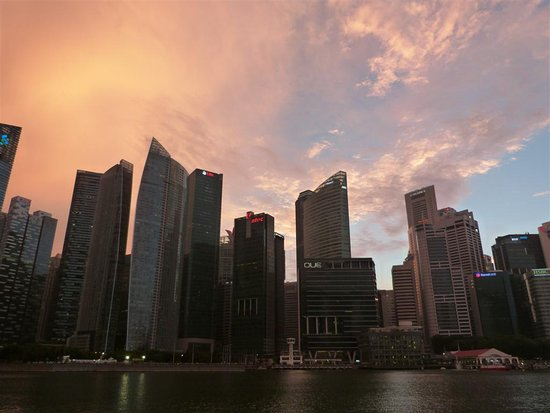 Marina Bay: sunset