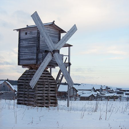 Kimzha, รัสเซีย: мельница