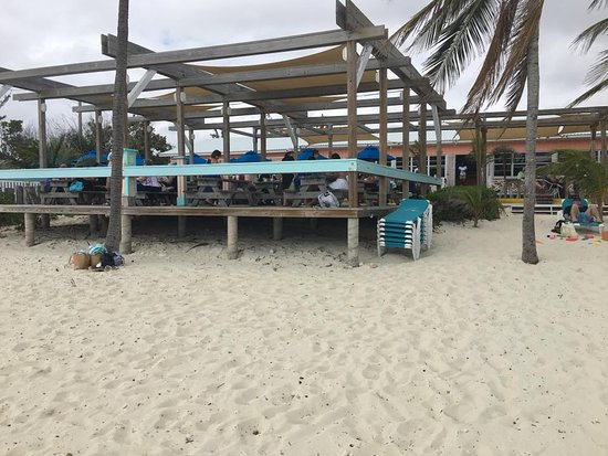 Banana Bay Restaurant...picnic table dining on the beach...